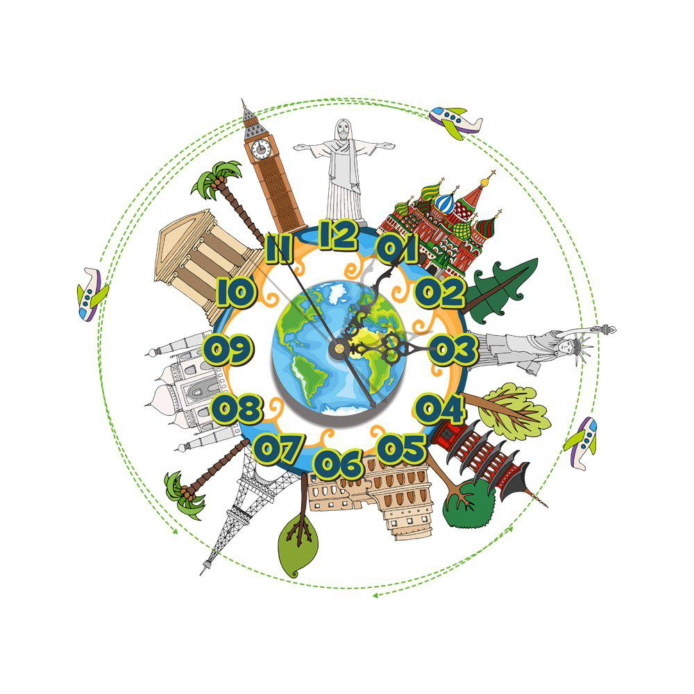 Fancy Wall 3D Clock Sticker for Home Room Decoration Gift
