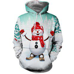 Fashion Lady Digital Print Christmas Snowman Hoodie -