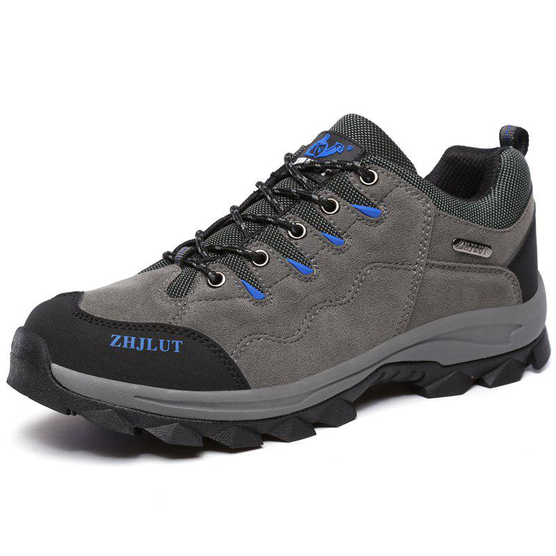 Online Men Laced Breathable Non-Slip Wear-Resistant Outdoor Leisure Sports Hiking Shoes