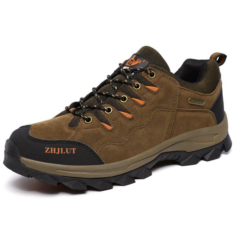Shop Men Laced Breathable Non-Slip Wear-Resistant Outdoor Leisure Sports Hiking Shoes