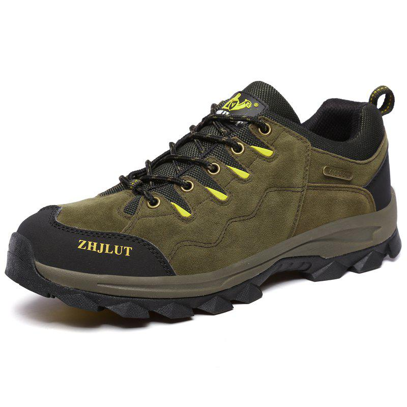 Latest Men Laced Breathable Non-Slip Wear-Resistant Outdoor Leisure Sports Hiking Shoes