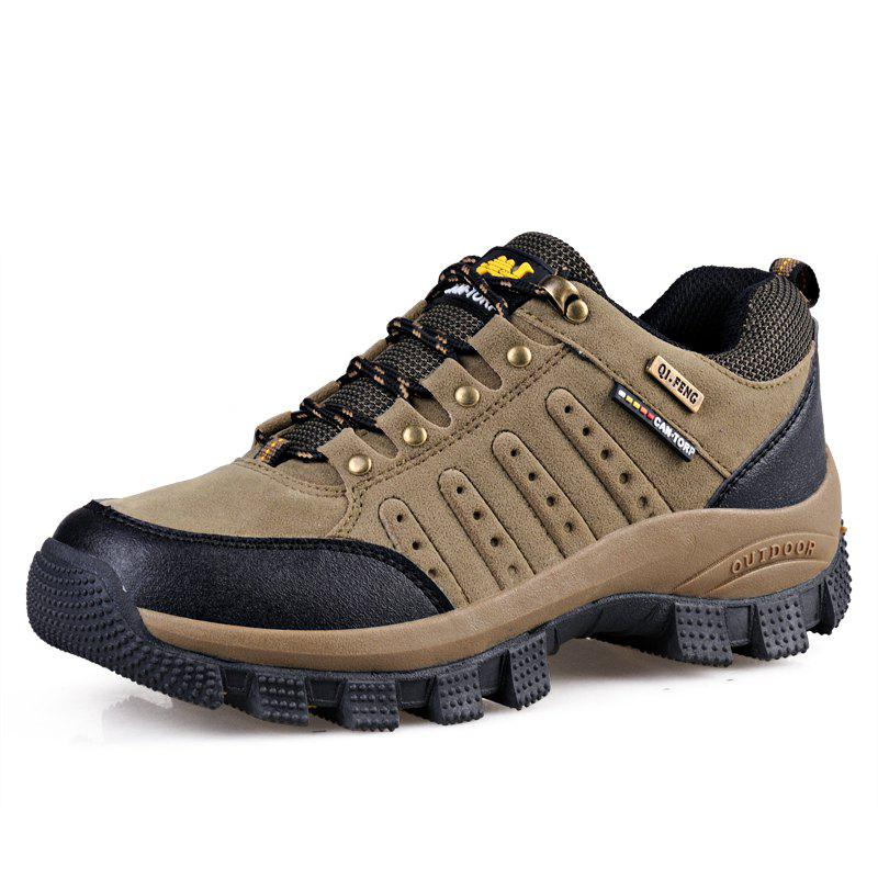 Fancy Women Breathable Non-Slip Wear-Resistant Lace-Up Outdoor Sports Hiking Shoes