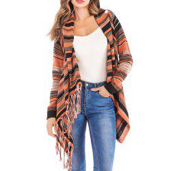 Medium Long Fashion Fringe Jacket -