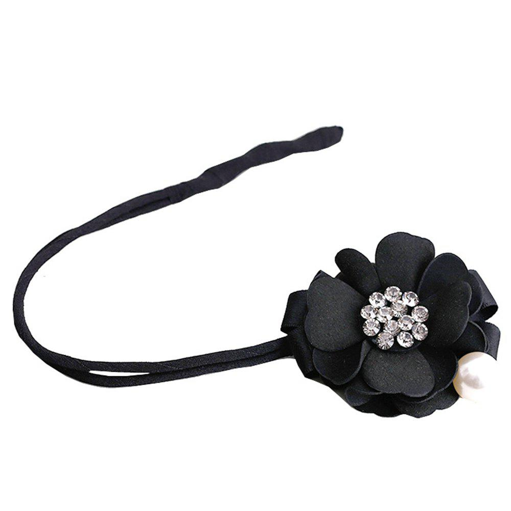 Trendy Fashion tied hair and flower hair rope