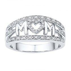 Mother'S Day Gifts MOM Mama Heart-Shaped Rings Ladies Accessories -