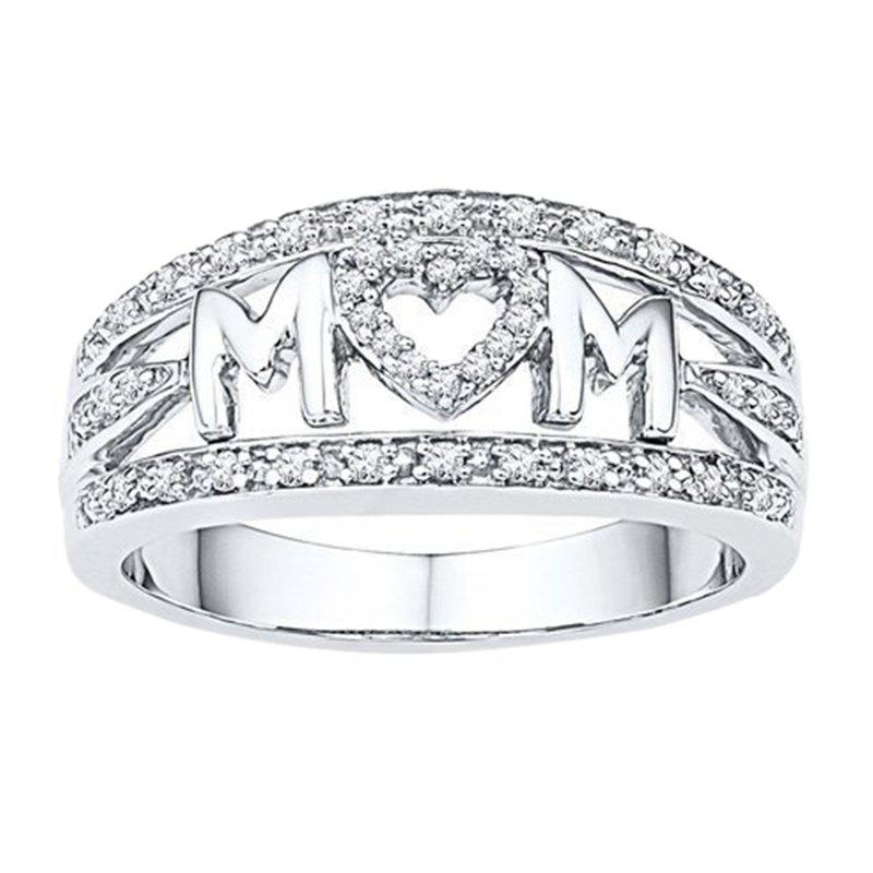 Outfit Mother'S Day Gifts MOM Mama Heart-Shaped Rings Ladies Accessories