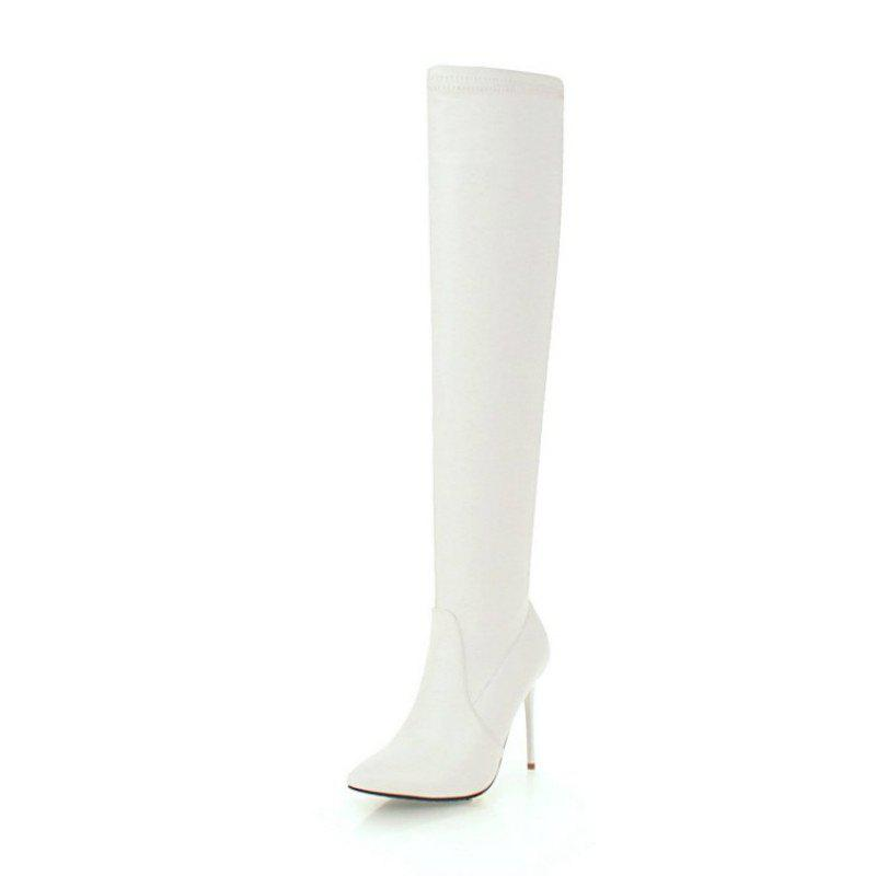 Latest European and American Pointed Stiletto High Heel Sexy Knee Boots