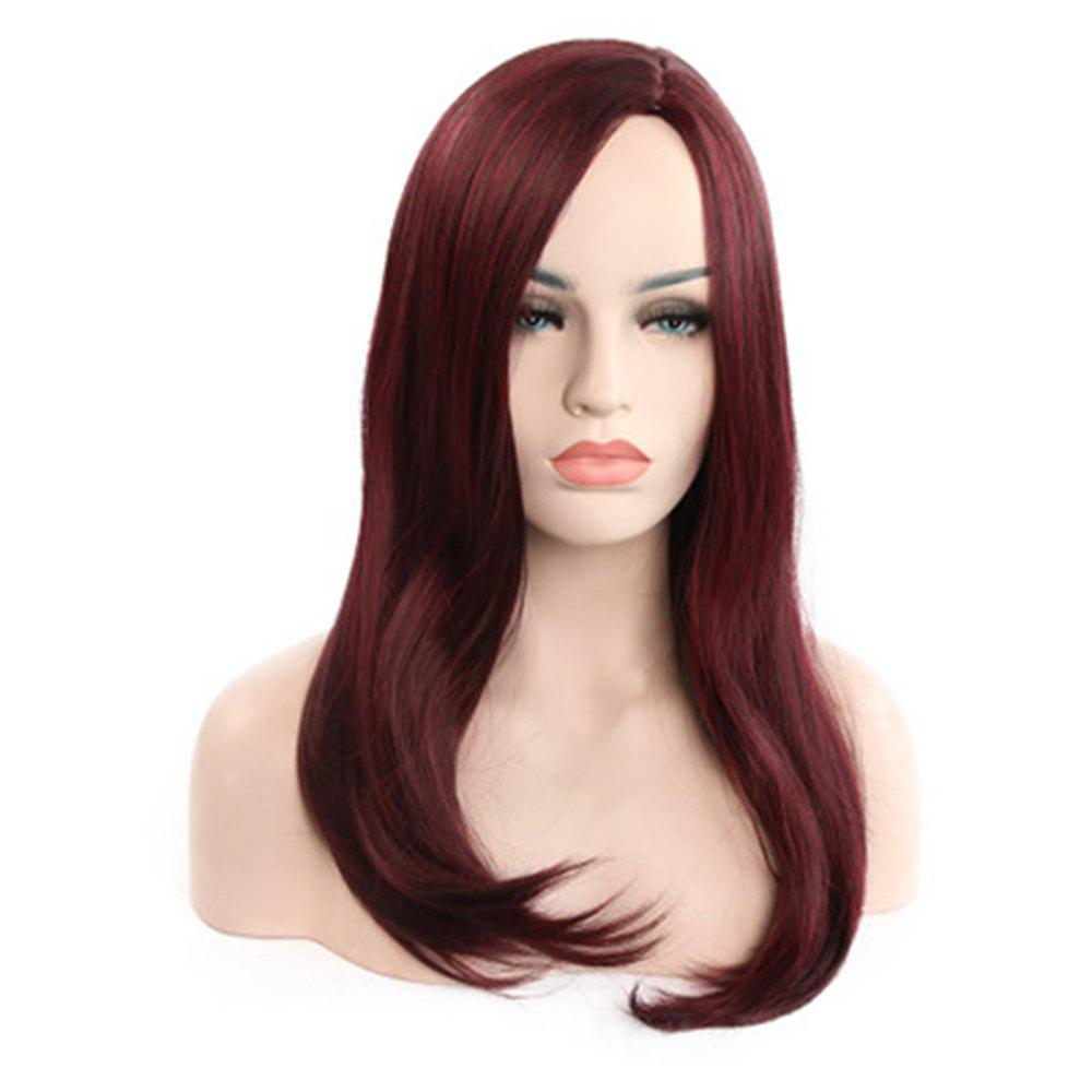 Unique Fashion Long Wine-Red WIG-8996