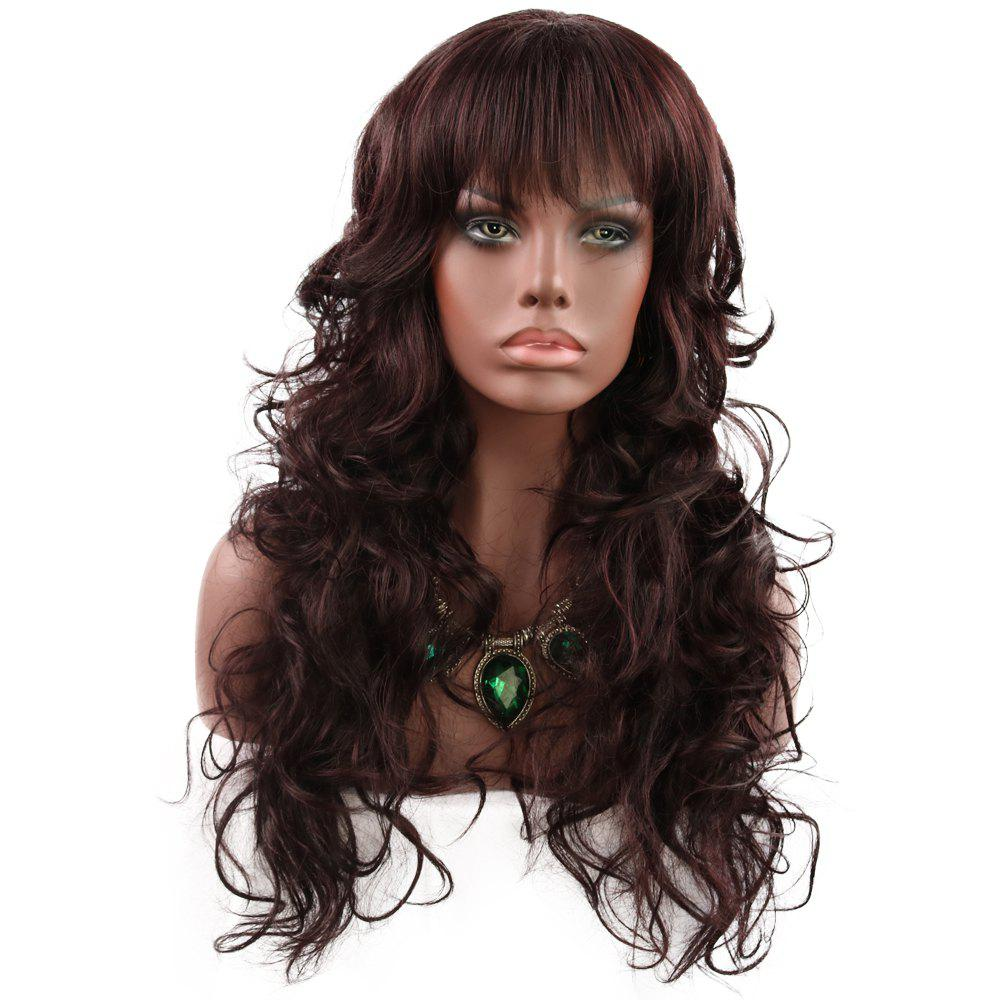 Buy Fashionable Lady Qi Liu Hai Long Curly Hair WIG-9003