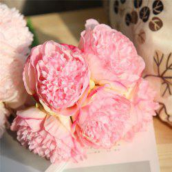 Peony Artificial Flower Wedding Bridal Bouquet Home Decor -