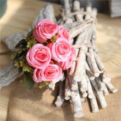 Rose Artificial Flower Home Decor Wedding Bridal Bouquet -