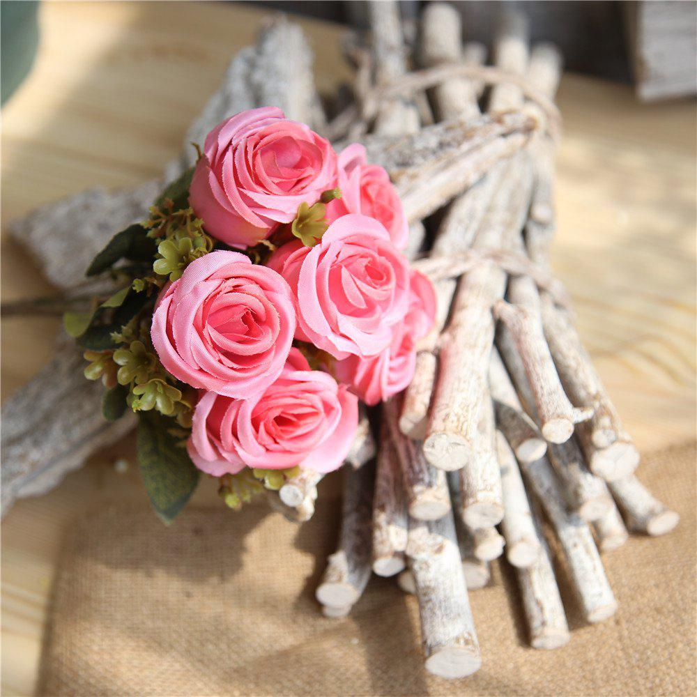 Outfits Rose Artificial Flower Home Decor Wedding Bridal Bouquet