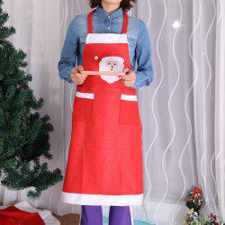 Christmas Decorations Supplies Kitchen Red Nonwoven Apron -