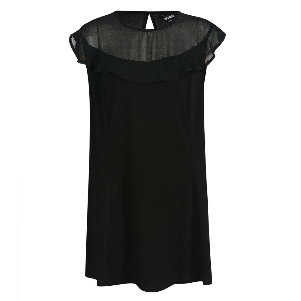 Online KISSMILK Women'S Simple Solid Color Ruffled Smock Black