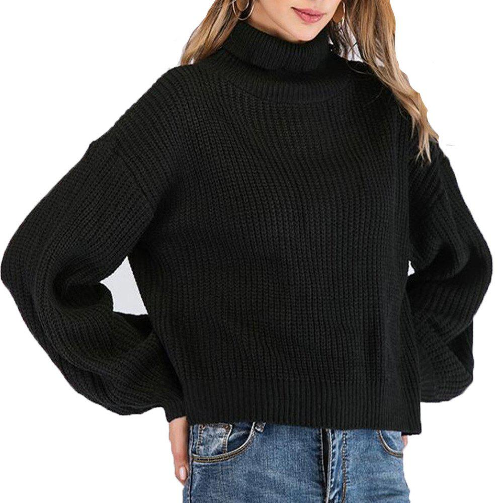 Hot Long Sleeve Loose Turtleneck Sweater