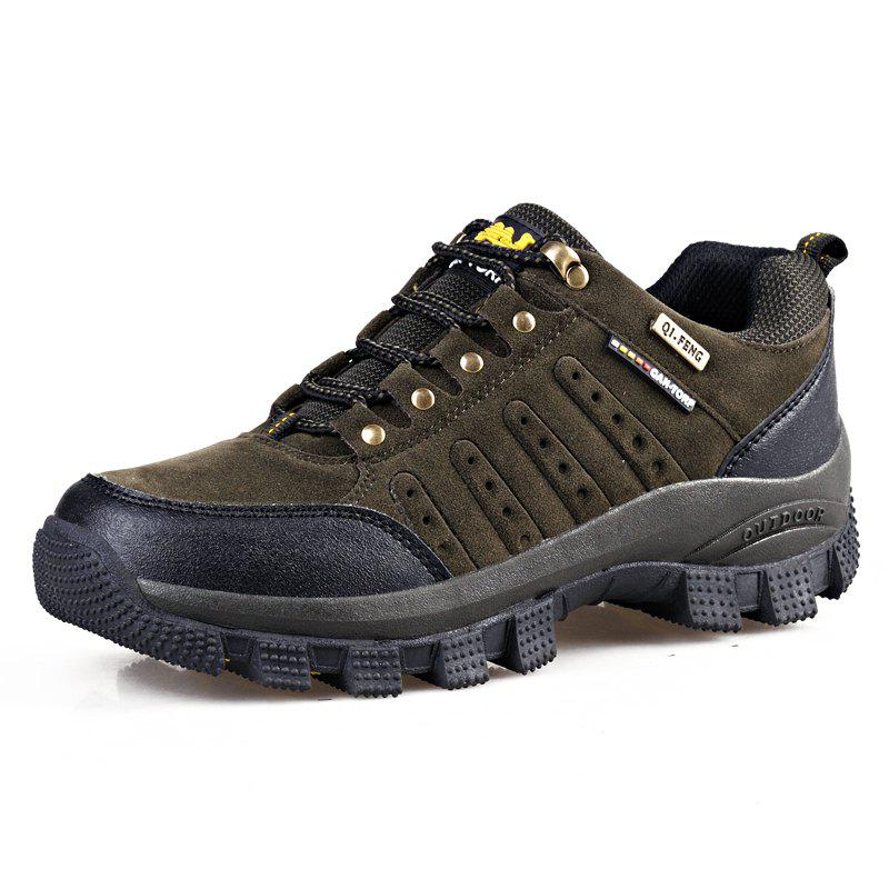 Outfit Men Lace-Up Breathable Sports Hiking Shoes Non-Slip Wear-Resistant Outdoor