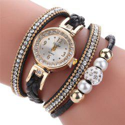 Mode Femmes Tricot Twist Quartz Montre Bracelet Montre Diamants -