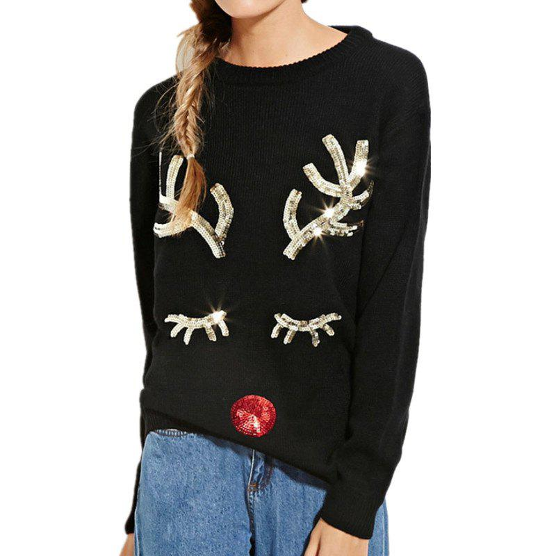 Fancy European and American Christmas Sweater Festival Theme Long-Sleeved Sweater