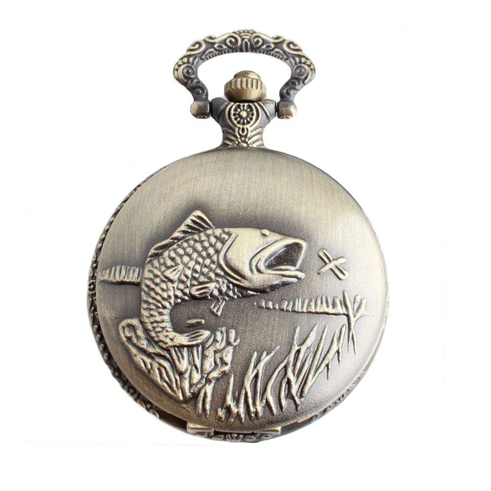 Store The Rib Fish Pocket Watch