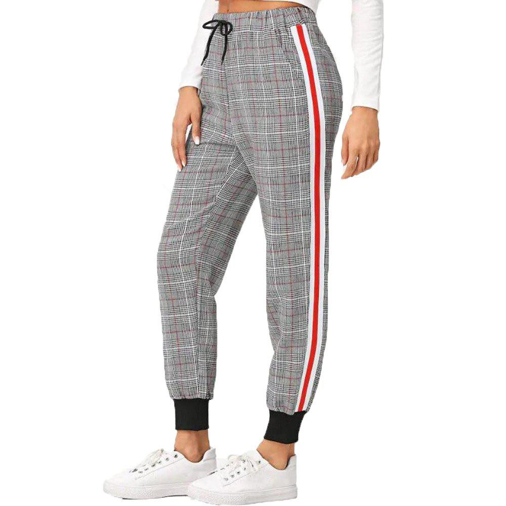 Fancy Women's Loose Sports Lattice Pants