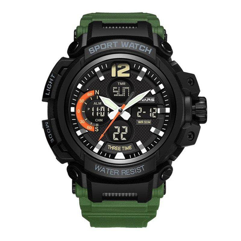 Affordable PANARS Men Sports Multi-Function Dual Display Analog Waterproof Digital Watches