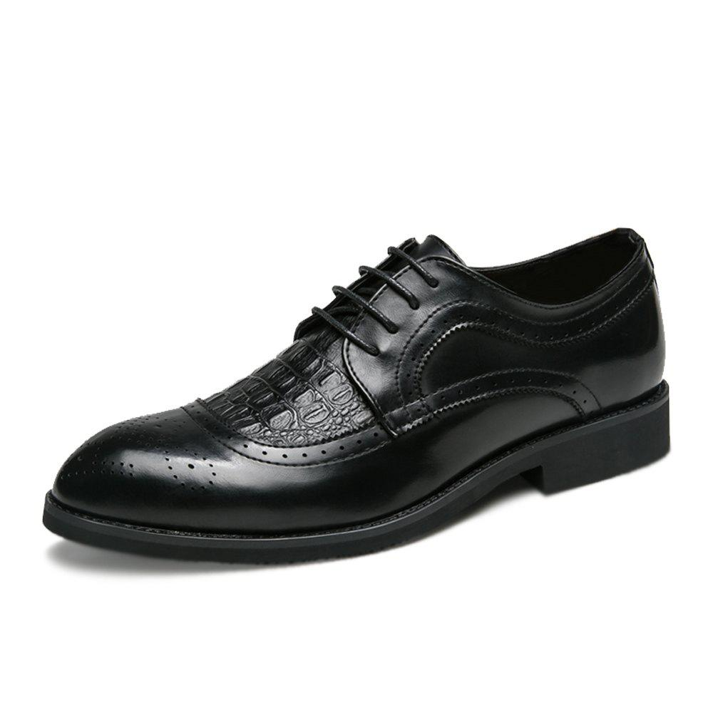 Chic Men Plus Size Brogue Lace Up Casual Fashion Leather Shoes