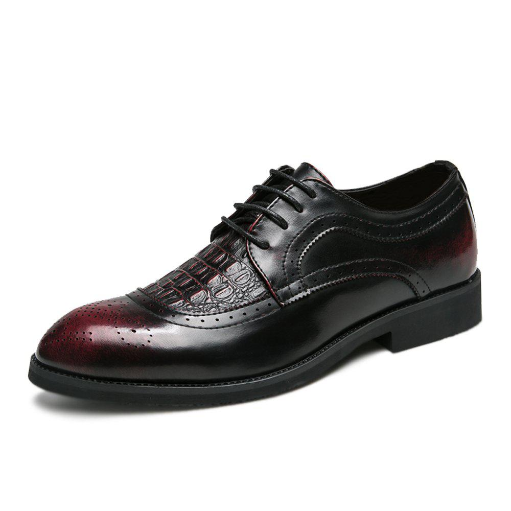 Hot Men Plus Size Brogue Lace Up Casual Fashion Leather Shoes