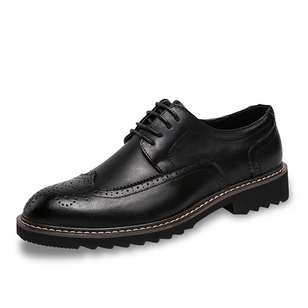 Best Men Brogue Leisure Gentle Lace Up Leather Shoes
