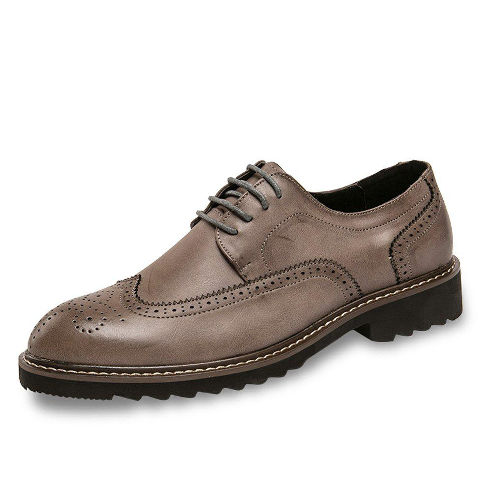 Hot Men Brogue Leisure Gentle Lace Up Leather Shoes