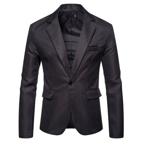 Men's Blazer Slim Fit Casual Suit Coat One Button Business Lapel Suit Jacket