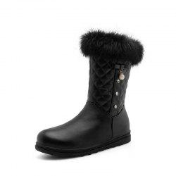 Round Bottomed Thick Bottomed Flat Bottomed Medium Boots -