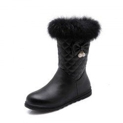 Round Head Thick Bottom Flat Sweet Boots -