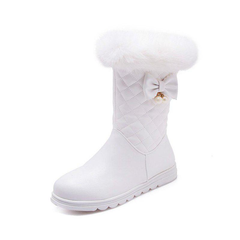 Fancy Round Head Thick Bottom Flat Sweet Boots