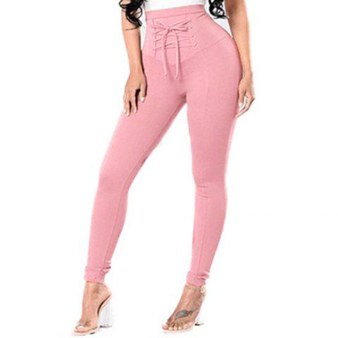 Solid Color Women'S Leggings High Waist Faddish Top Fashion Skinny Leggings