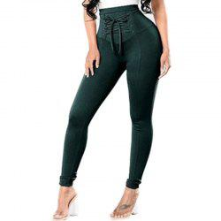 Solid Color Women'S Leggings High Waist Faddish Top Fashion Skinny Leggings -