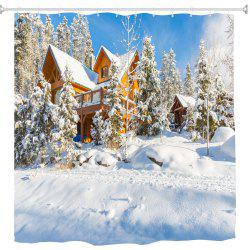 Christmas Tree and House 3D Digital Printing Fabric Waterproof and Mildewproof -