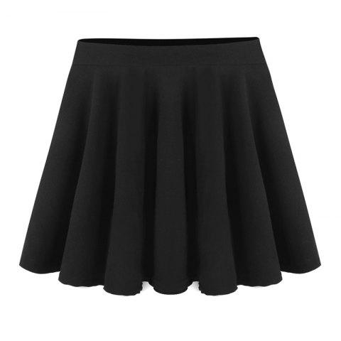 Women Elastic High Waist Sexy Big Swing Skater Umbrella Skirts
