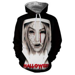Fashion 3D Printed Zombie Figure Female Long Sleeve Sweater -