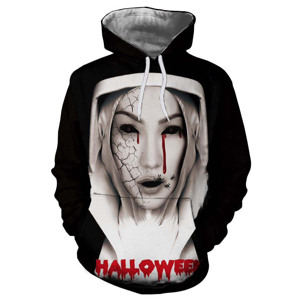 New Fashion 3D Printed Zombie Figure Female Long Sleeve Sweater