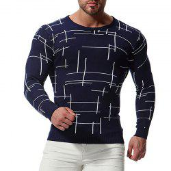 Men'S Sweater O Neck Line Pattern Knitting Slim Fashion Men'S Knitwear -