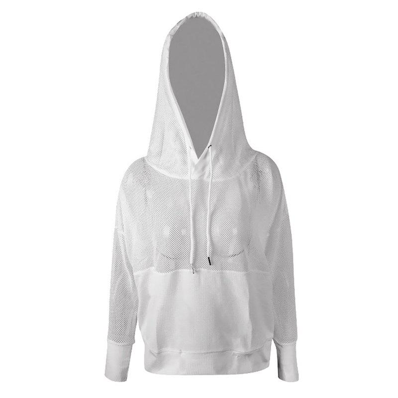 Outfits Women'S Hoodie Solid Color Hollow Out Breathable Fashion ALL Match Top