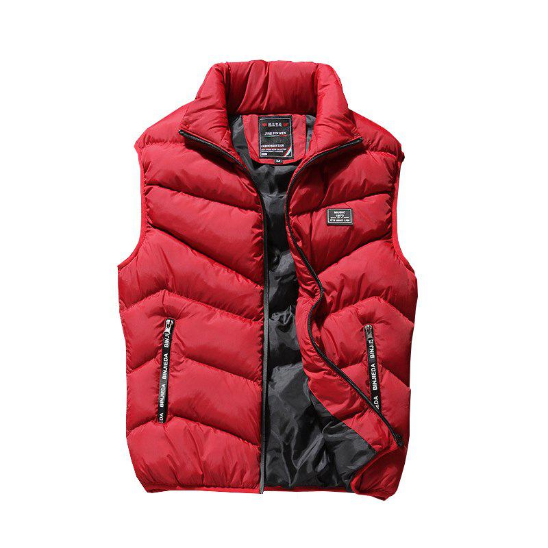 Men Autumn Casual Down Plus Cotton Vest