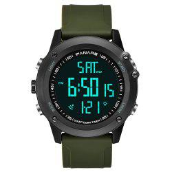 PANARS Men Multi-Function Digital Silicone Sport LED Waterproof Watch -