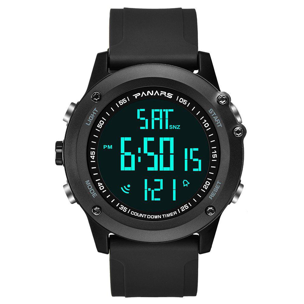 Latest PANARS Men Multi-Function Digital Silicone Sport LED Waterproof Watch