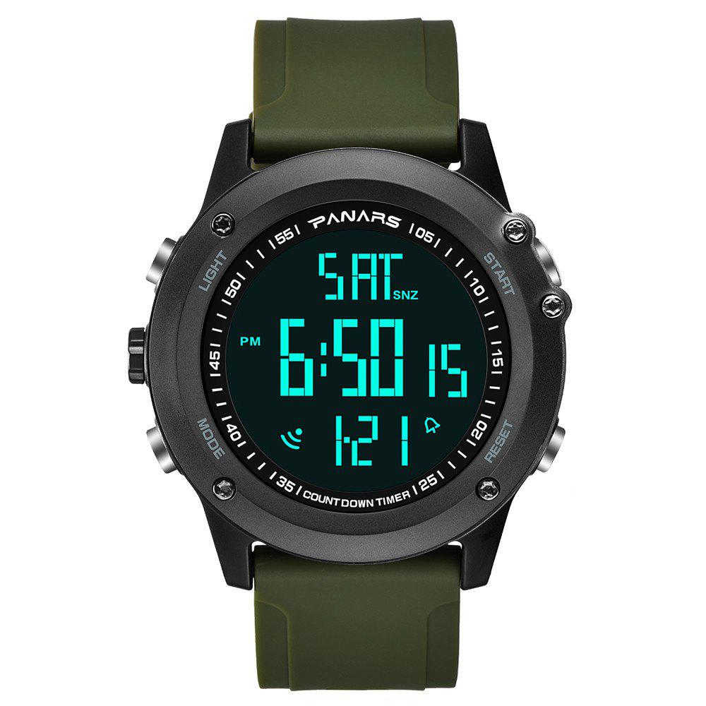 Affordable PANARS Men Multi-Function Digital Silicone Sport LED Waterproof Watch