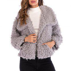 Long Sleeve Jacket with Lapel Collar -