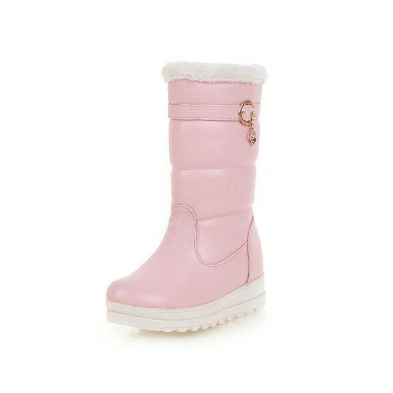 Fashion Fashionable Round Head Thick Bottom To Increase Ladies Boots