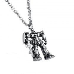Men's Leisure Antique Wind Robot Pendant Alloy Necklace -