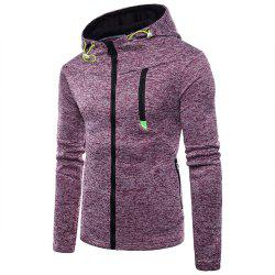 Man Sweater Motion Leisure Time Thickened Single Color Hoodie Coat -