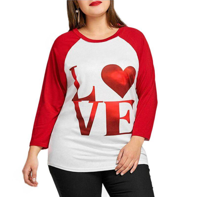 Fashion Round Collar Printing Letter Long Sleeve T Shirt